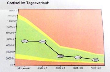 Cortisol-Tagesprofil nach Einnahme von Hydrocortison